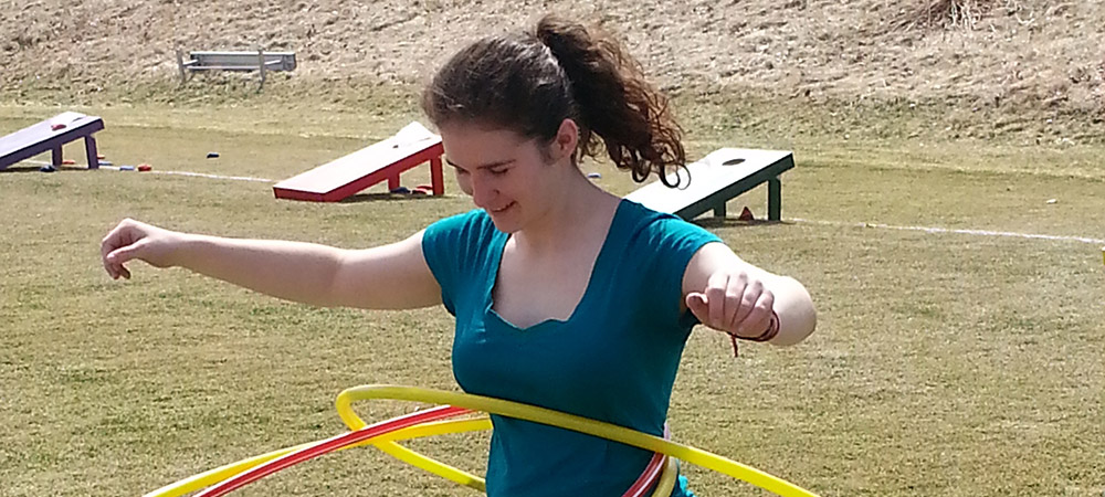 hula hooping during Spring Day
