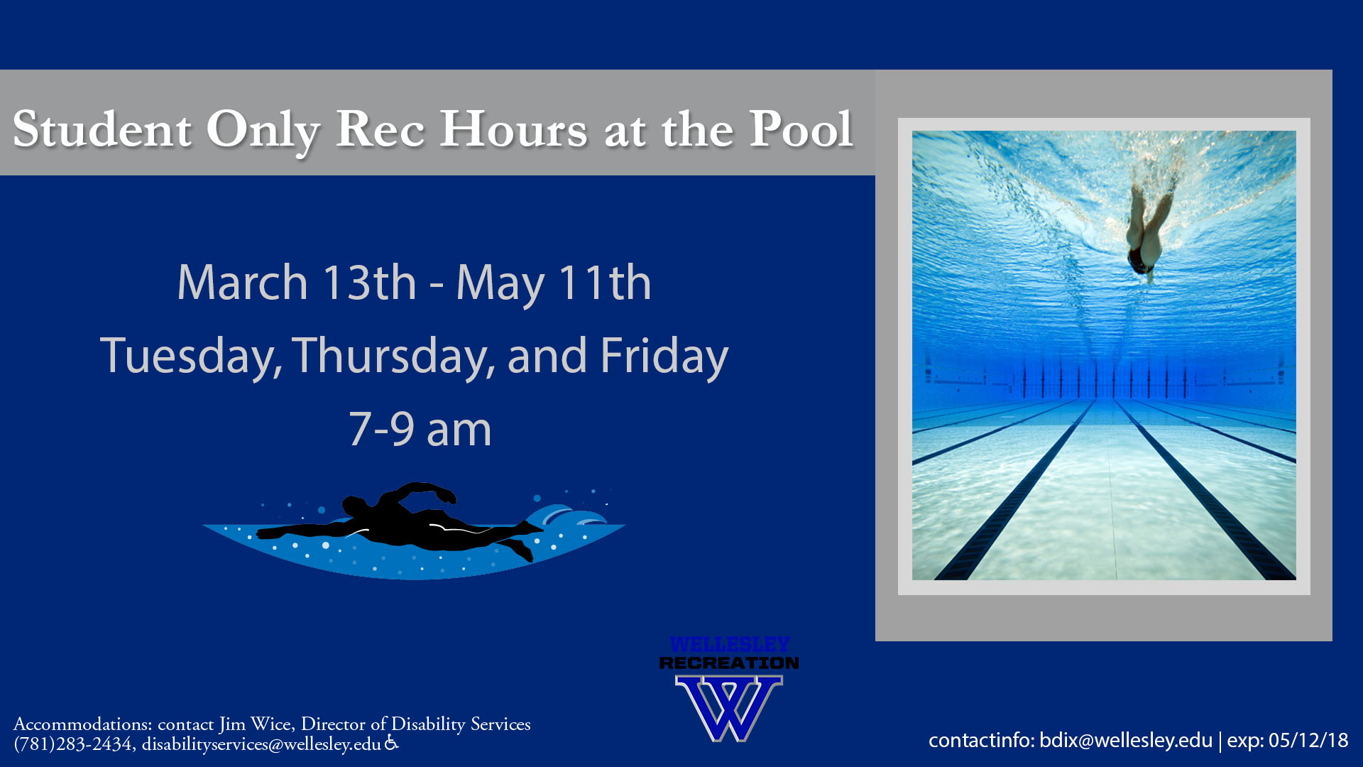 Added Student ONLY Pool Hours