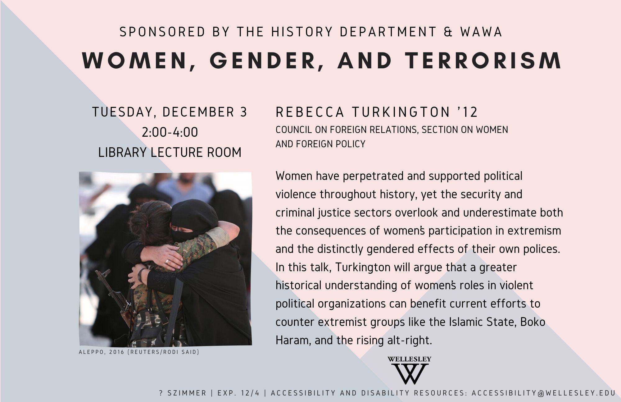 Women, Gender, & Terrorism