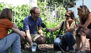 Dan Brabander with WBUR reporters