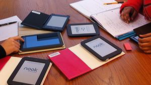 ebooks on a table