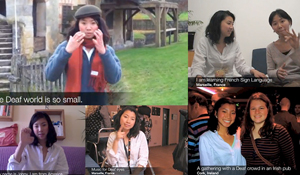 montage of screenshots from Lu's video