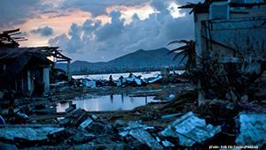 scene of devastation in Philippines