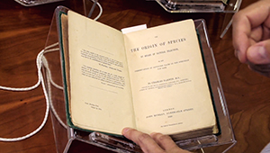 "first edition of Darwin's ""origin of species"""