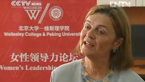 Wellesley President H. Kim Bottomly Interviewed on CCTV