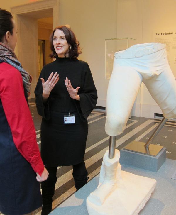 Professor Cassibry at the Metropolitan Museum of Art during her 2013-2014 sabbatical.
