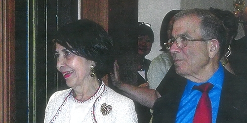 Suzy and Donald at the Newhouse Center opening celebration, in April 2006.