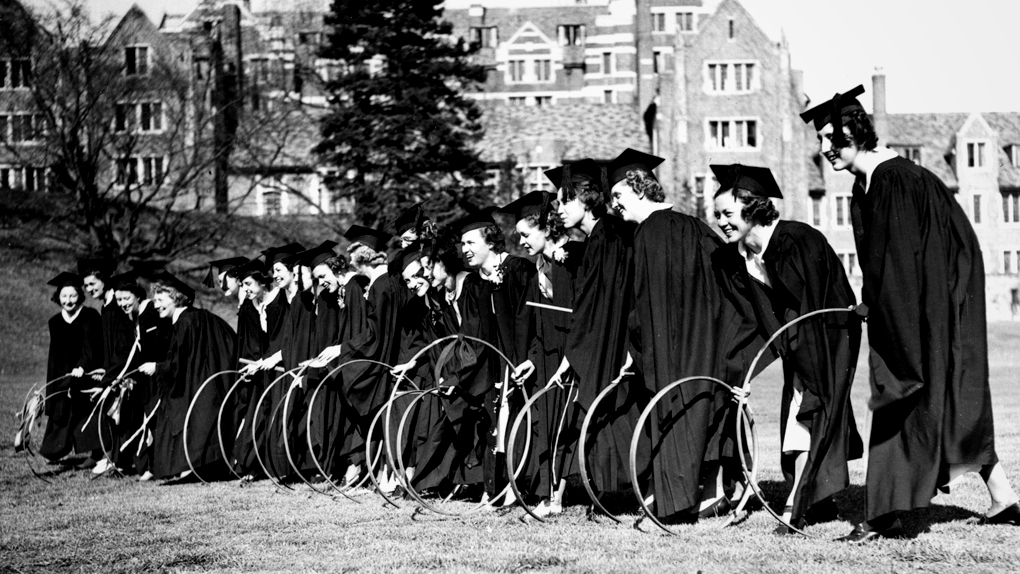 Vintage Photo of Students with their hoops
