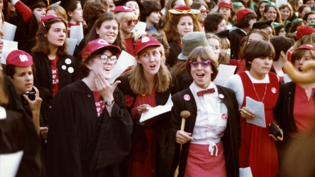 Red class of 80 at stepsinging