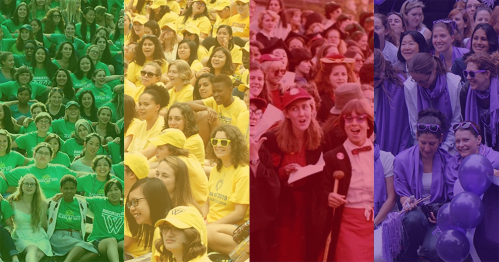 Class colors: green, yellow, red, and purple