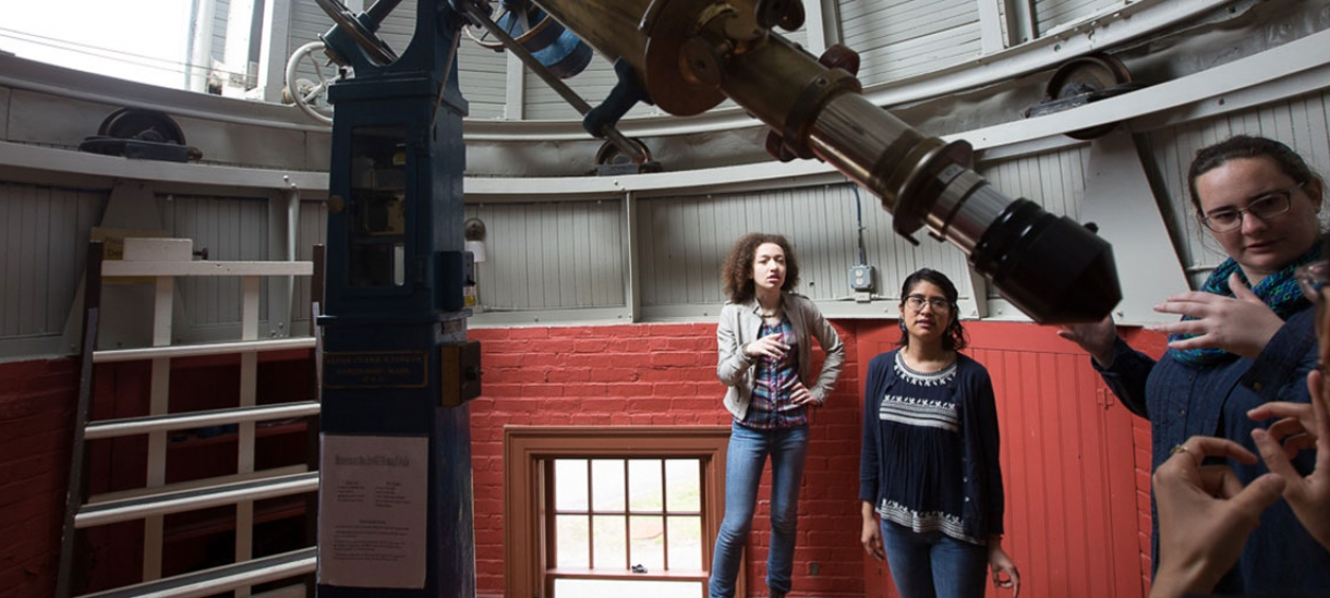 students in the Whitin Observatory