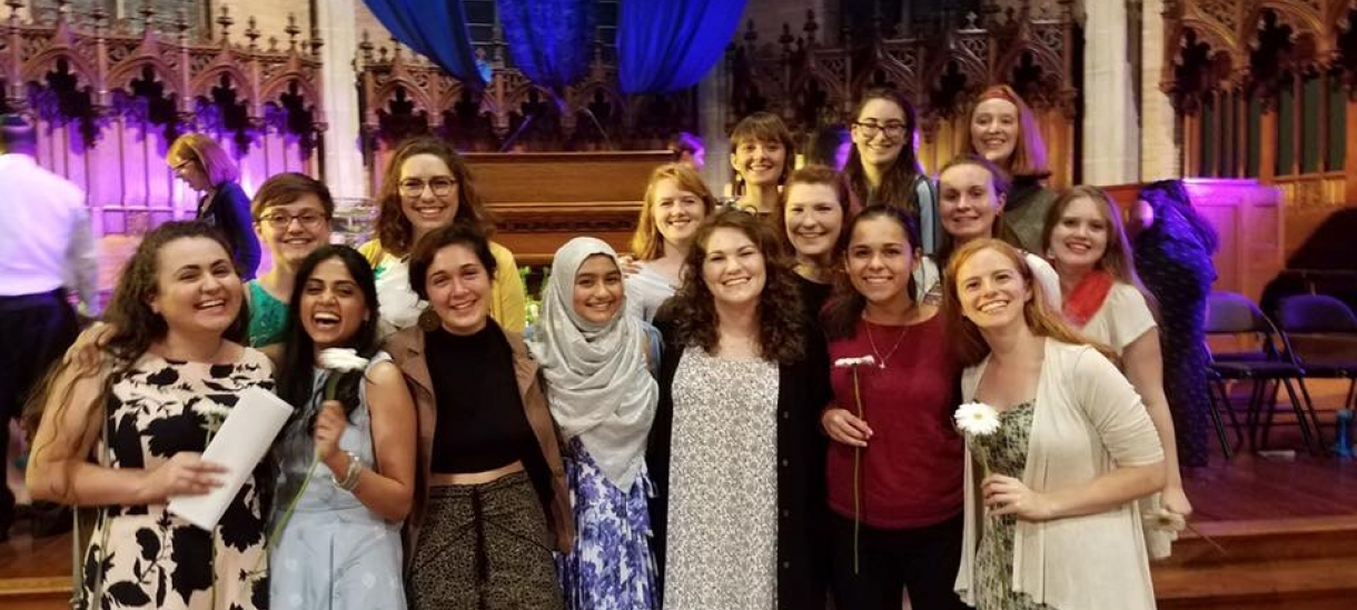 Multifaith Council Students Gather at Flower Sunday in the Chapel