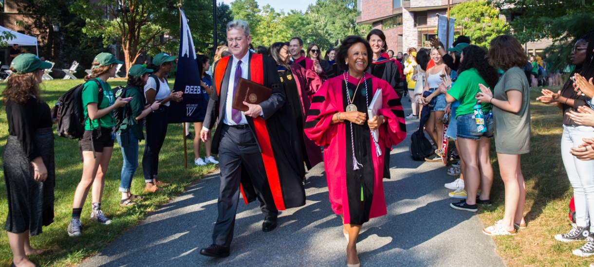 Provost Shennan and President Johnson in the procession
