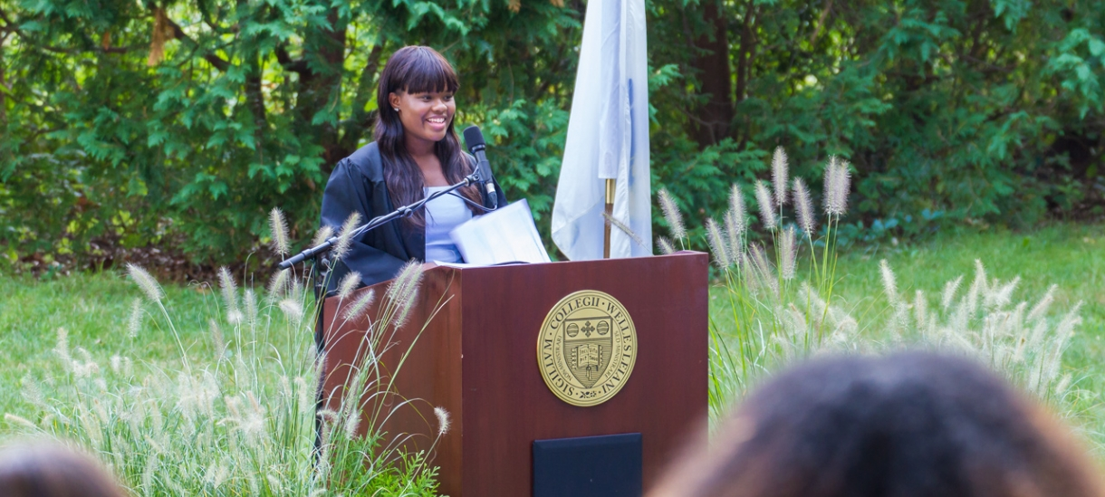 Tashay Campbell '18 delivers her 2017 convocation remarks