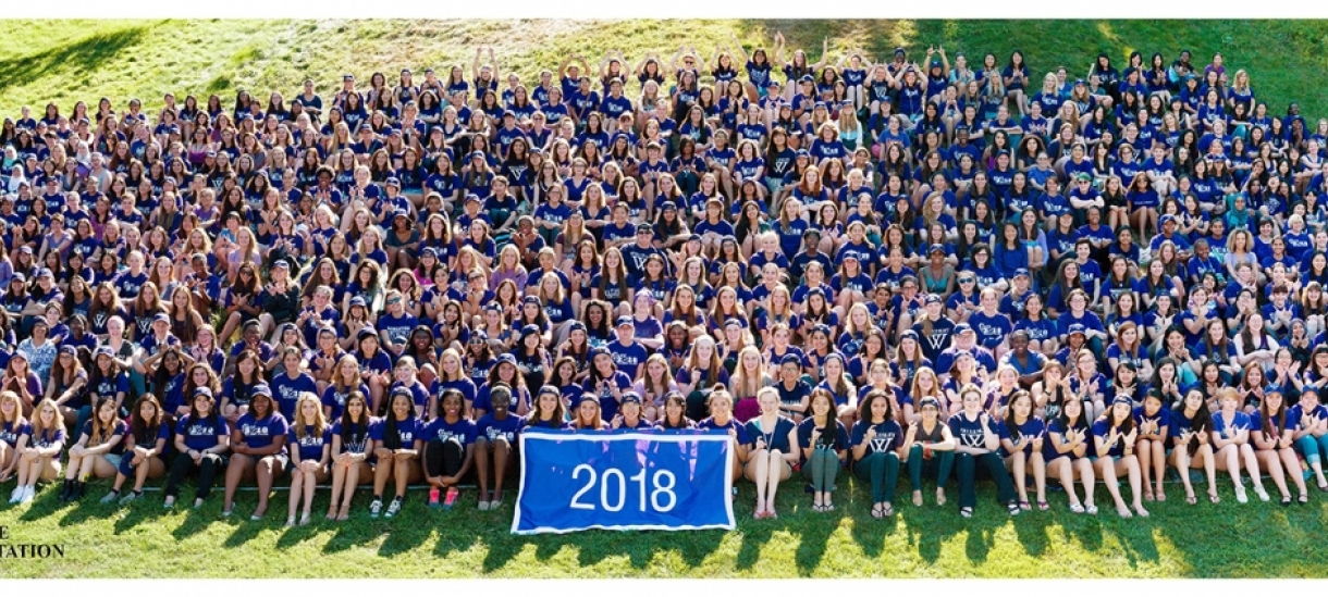 Class of 2018 orientation photo