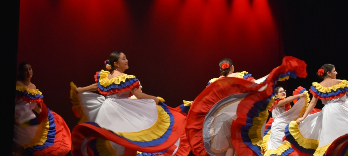 Students dancing at Slater Culture Show