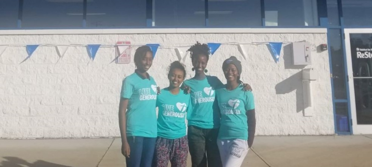 MasterCard Foundation Scholars outside Habitat for Humanity ReStore