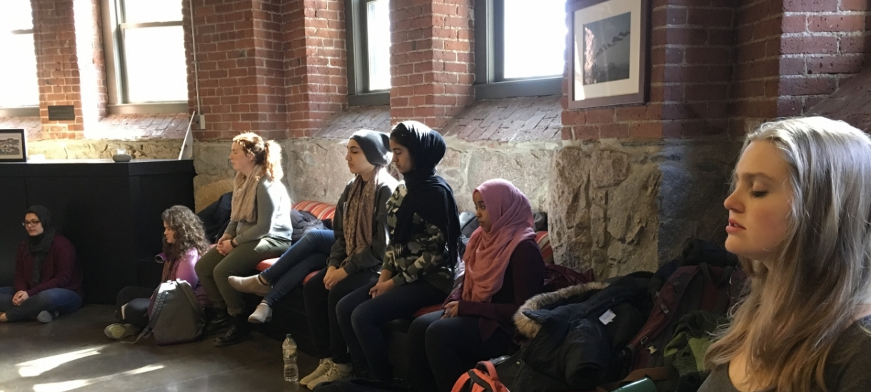 Students gather in the Multifaith Center