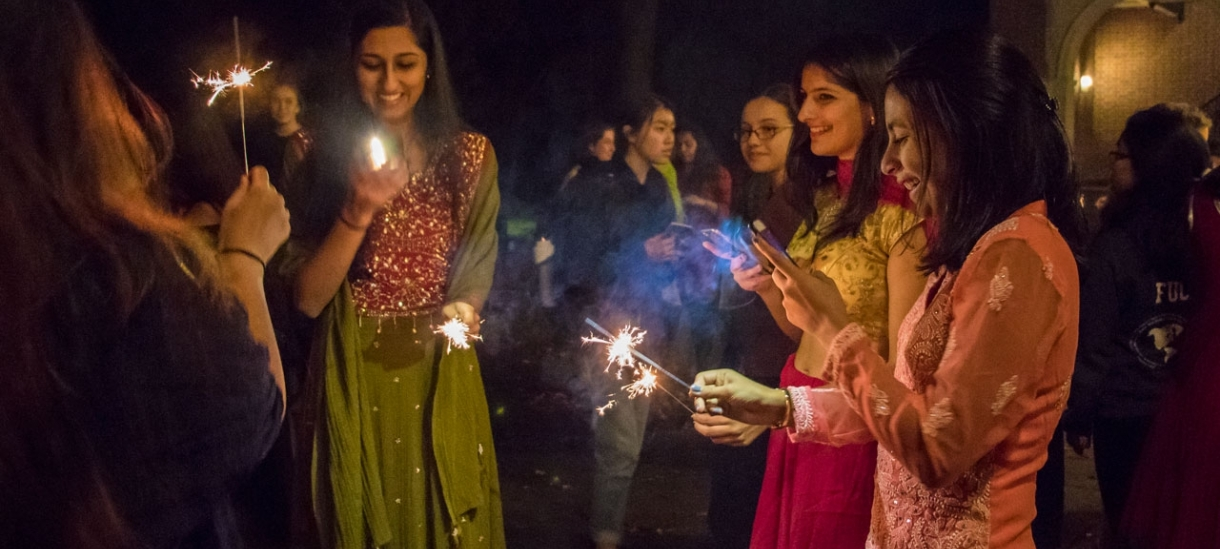 Darshana students gather on Diwali