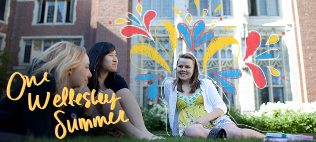 Students at Tower Court. One Wellesley Summer