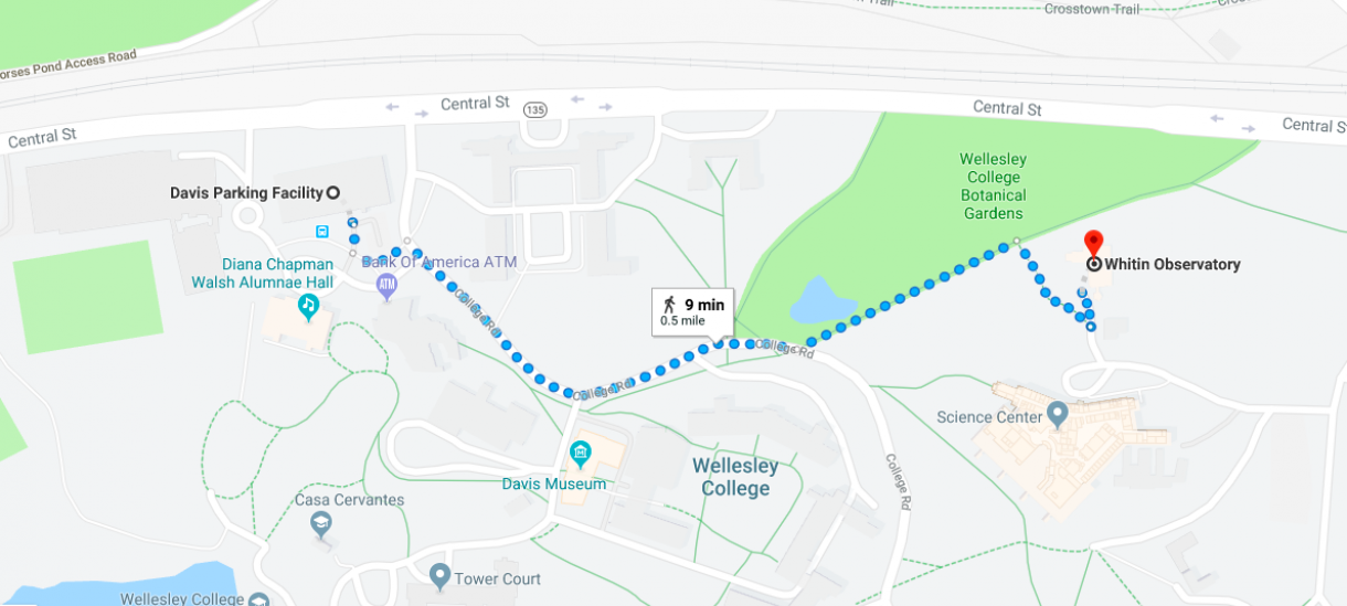 Walking Map to Observatory