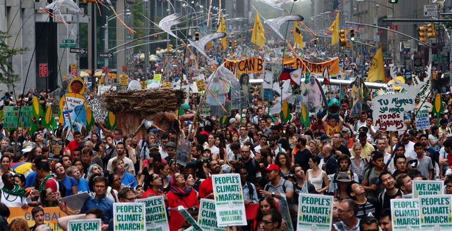 400,000 people gathered in New York City this week to demand faster political action on climate change.