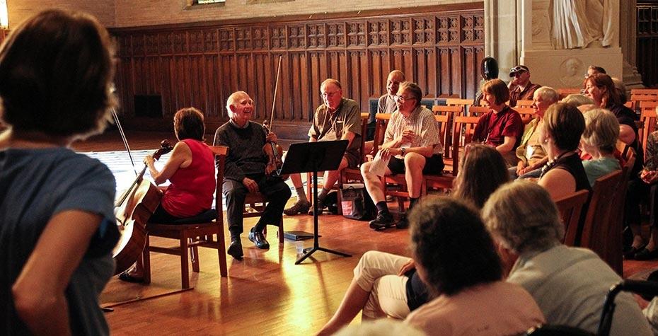 music workshop in Houghton Chapel