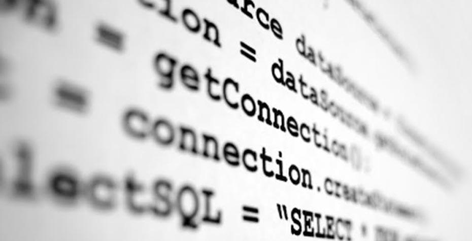 closeup of lines of computer code