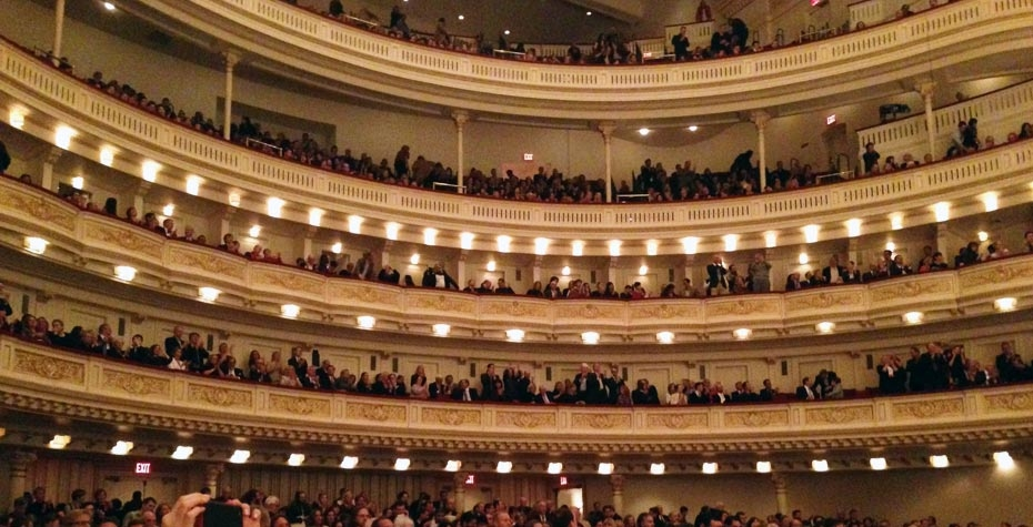 carnegie hall balconies with audience