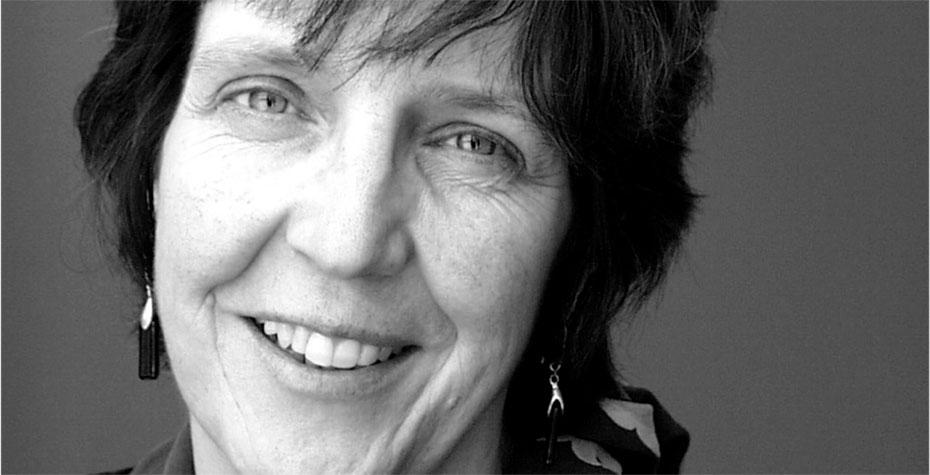Carol Ann Paul, black & white closeup