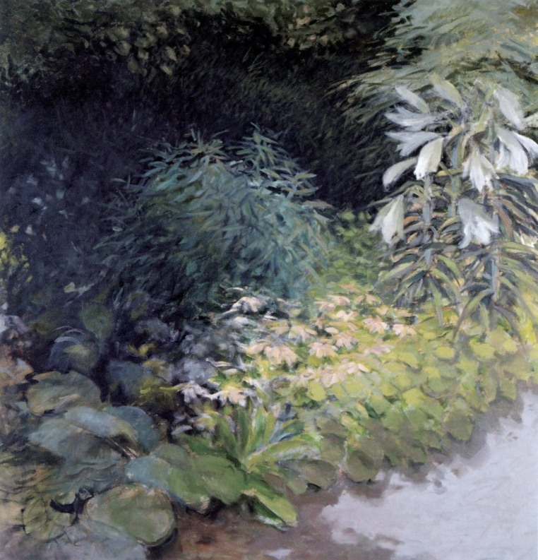 James Rayen, September Garden (detail). Acrylic and oil on canvas, 58 1/8 x 56 1/4 in. Photo courtesy of the artist