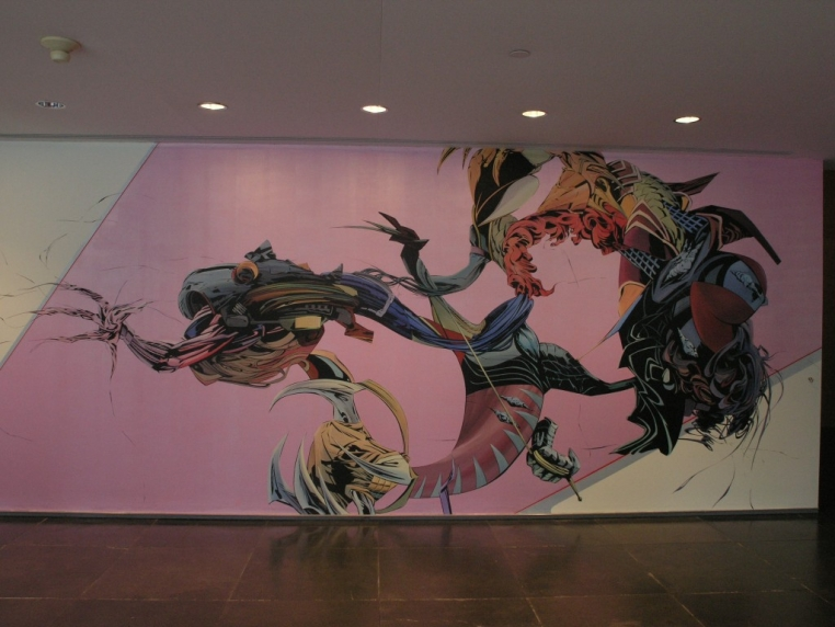 Aaron Noble, My Funny Valentine, 2005. Acrylic on wall. Courtesy of the artist