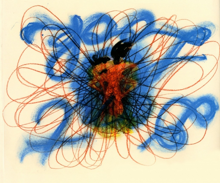 Chris Hammerlein, Don't Look, 1999. Ink and crayon. Collection of Martina Yamin.