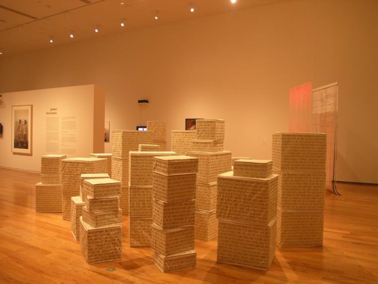 Installation view, Global Feminisms, 2007.