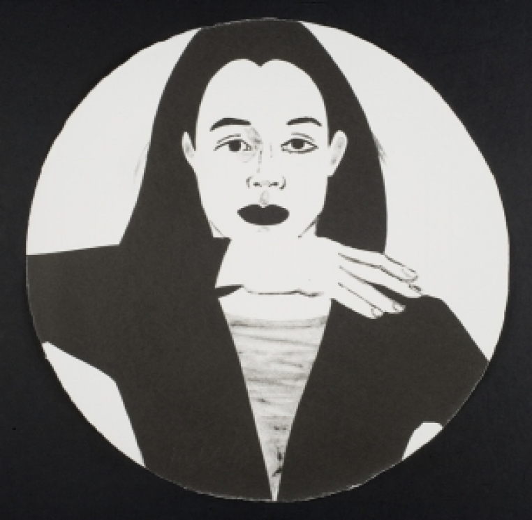 Alex Katz, Untitled from the portfolio Self-Portrait in a Convex Mirror, 1984. Lithograph. The Nancy Gray Sherrill, Class of 1954, Collection, 2009.51.1-.41