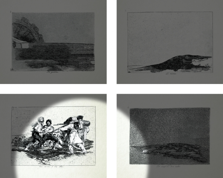 Farideh Lashai, When I Count, There Are Only You...But When I Look, There Is Only a Shadow, 2012-2013 suite of 80 photo-intaglio prints with projection of animated images 11 3/4 x 9 inches (each)   75 1/2 x 122 inches (overall size) Courtesy of Leila Heller Gallery, New York/Dubai and The Estate of Farideh Lashai