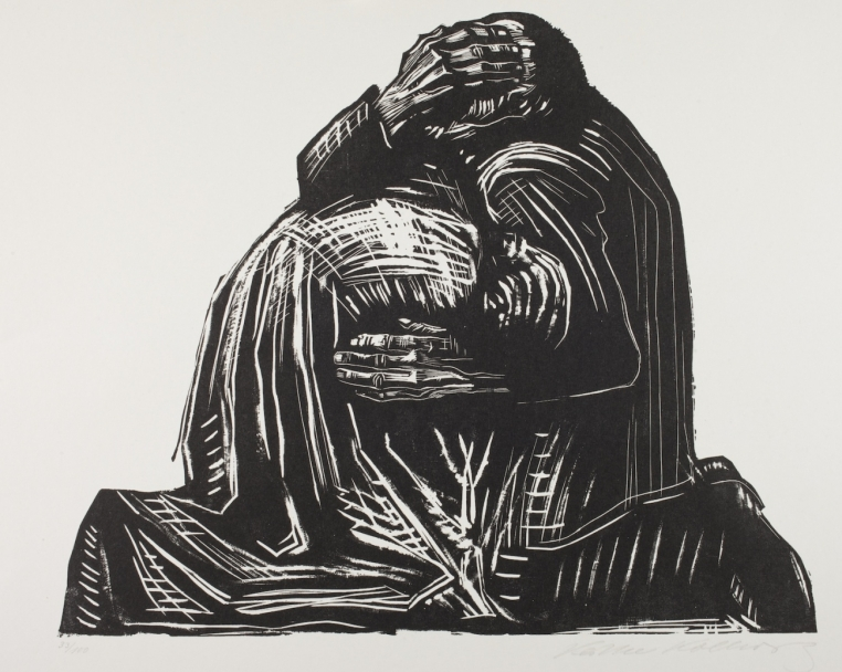 "Käthe Kollwitz, The Parents (plate 3) from the portfolio ""War,"" 1923.  © 2015 Artists Rights Society (ARS), New York / VG Bild-Kunst, Bonn"