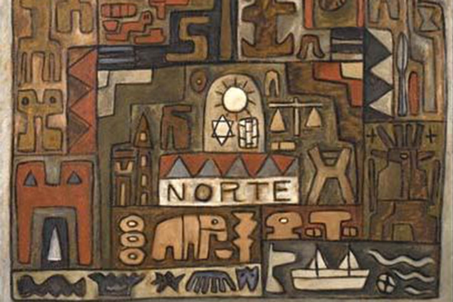 crop of Rosa Acle's painting Norte