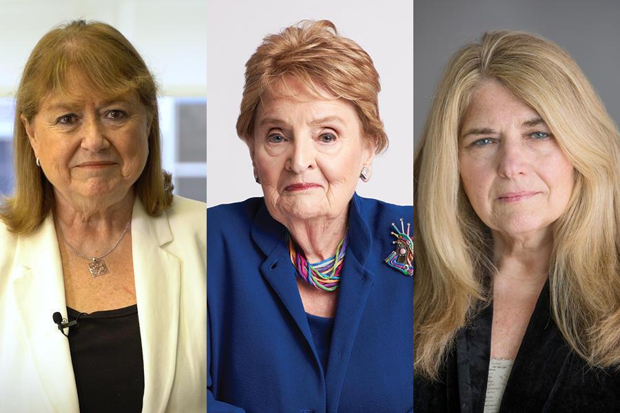Susana Malcorra, Madeleine Korbel Albright, Carol Giacomo