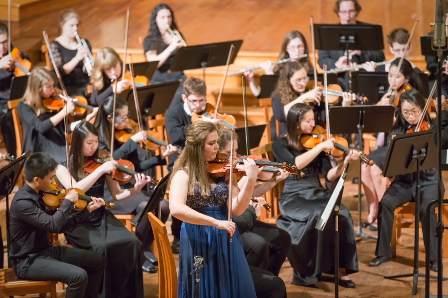 performers in the Brandeis-Wellesley Orchestra