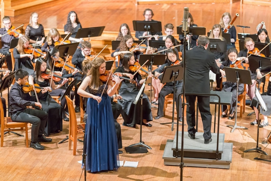 image of Brandeis Wellesley orchestra performance