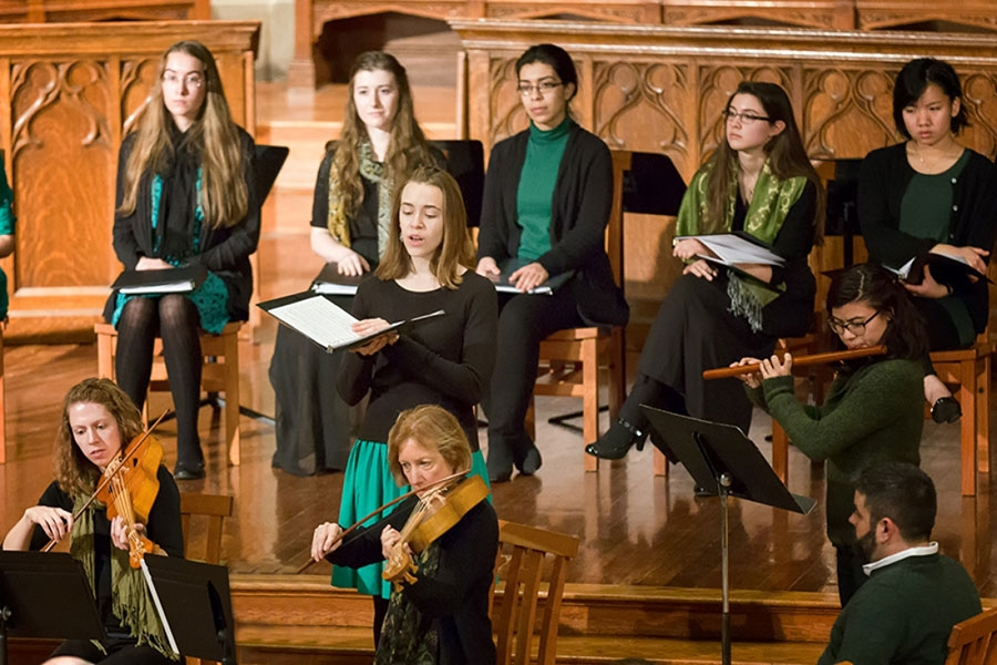Collegium Musicum ensemble musicians and singers performing