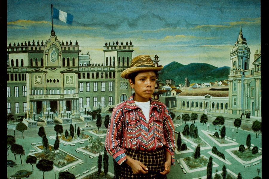 image of Anna Parker's Country Boy in front of National Palace Backdrop, Sololá