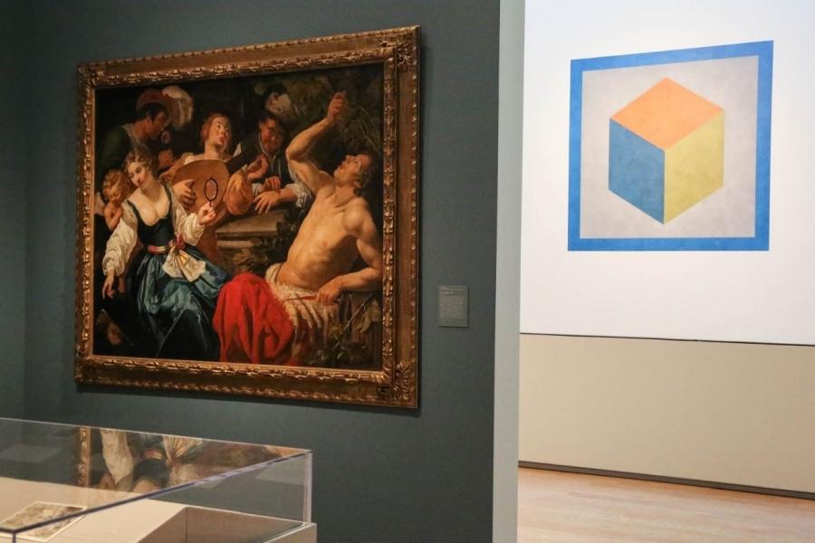 image of art hanging in Davis gallery