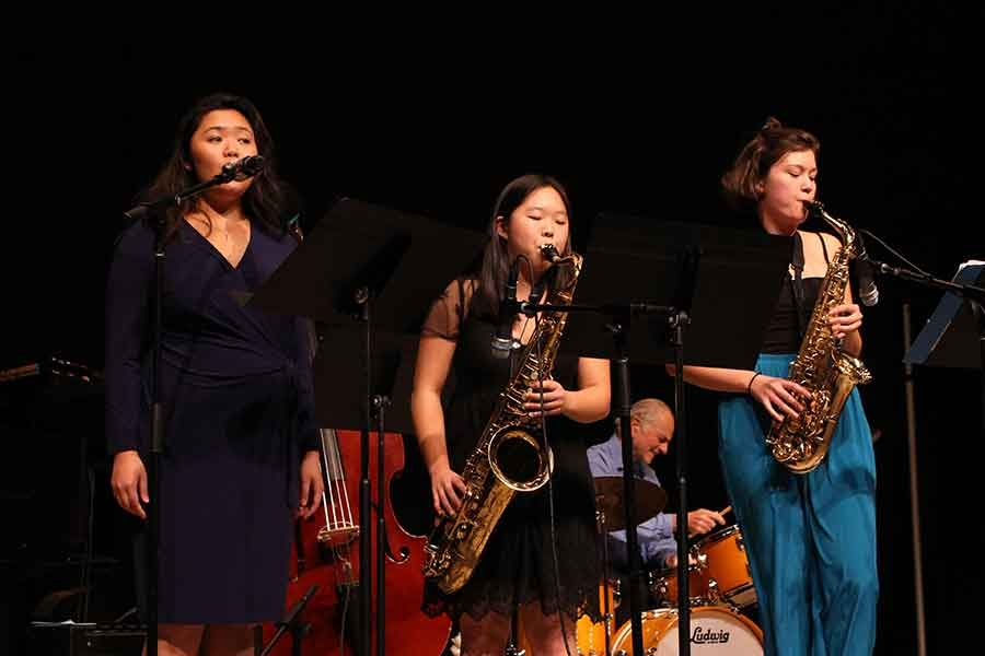 Wellesley College BlueJazz performing