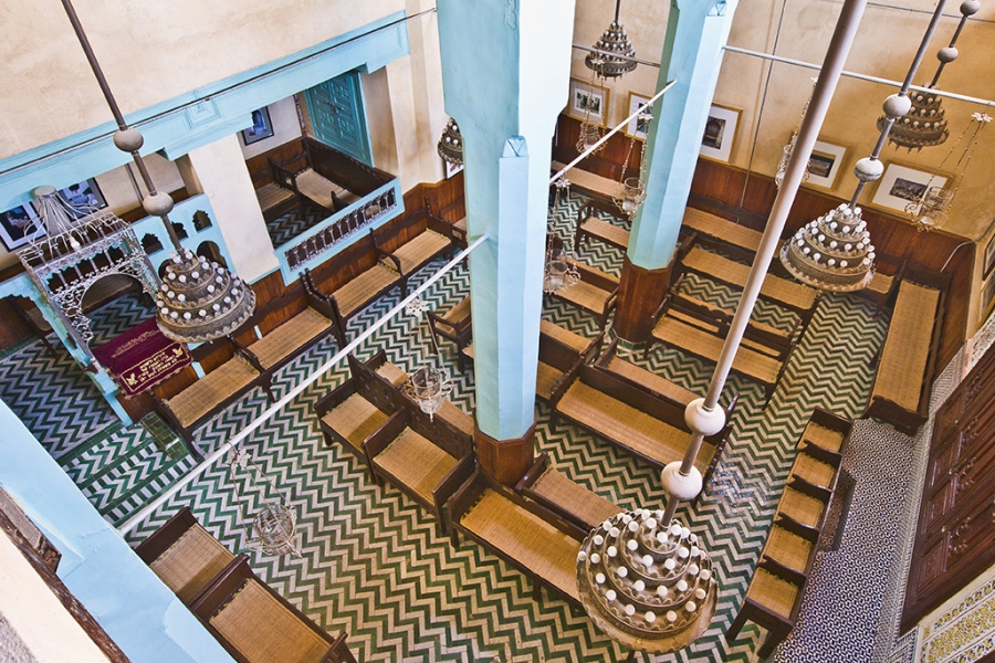 Aben Danan Synagogue interior located at Fez, Morocco