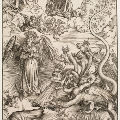 Albrecht Dürer, The Apocalyptic Woman and the Seven-Headed Dragon, ca. 1497