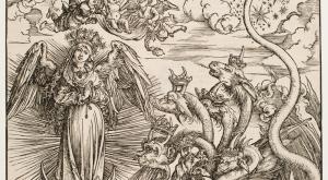 Albrecht Dürer, The Apocalyptic Woman and the Seven-Headed Dragon, ca. 1497