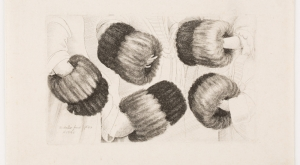 Wenceslaus Hollar, A Muff in Five Views (1645-46, etching)