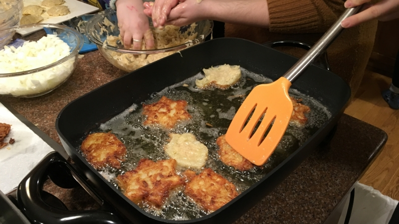 Latke making